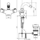 Novaservis Bidetová baterie termostatická s výpustí Aquamat chrom 2611,0