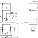 Novaservis Bidetová podomítková baterie FRESH chrom 96211,0