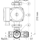 Novaservis čerpadlová sestava s W0603 GM40GPA