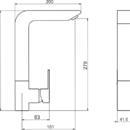 Novaservis Dřezová baterie EDGE chrom 36714,0