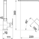 Novaservis Dřezová baterie EDGE granit-písek 36713,GRS
