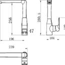Novaservis Dřezová baterie Nobless Tina bílá/chrom 38714,1