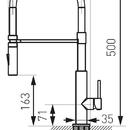 Novaservis Dřezová baterie se sprškou a černým flexi ramenem, chrom BLE4B