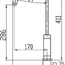 Novaservis Dřezová baterie Titania CUBE chrom 98813,0