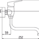 Novaservis Dřezová umyvadlová baterie 100mm Titania IRIS New chrom 94474/T,0