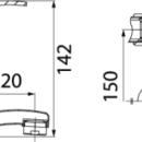 Novaservis Dřezová umyvadlová baterie 150 mm PADWA chrom 73070,0