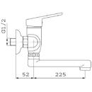 Novaservis Dřezová umyvadlová baterie 150 mm SMILE chrom 71070,0