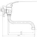 Novaservis Dřezová umyvadlová baterie 150 mm Titania Iris chrom 92070/T,0