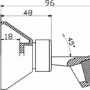 Novaservis Držák sprchy kloubový plastový chrom D/PIXY,0