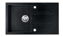 Novaservis Granitový dřez s odkapem, s přepadem z dřezu, grafit DRGM48/78HA