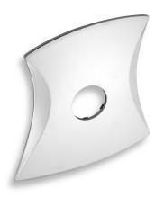Novaservis Kryt podomítkového boxu LINIE chrom KRYT0050D,0