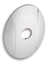 Novaservis Kryt podomítkového boxu OVAL chrom KRYT0050A,0