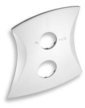 Novaservis Kryt podomítkového boxu s přepínačem LINIE chrom KRYT0050RD,0
