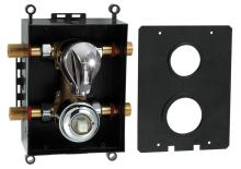 Novaservis Montážní podomítkový box s přepínačem chrom BOX050R