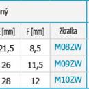 """Novaservis Nátrubek redukovaný 1""""x3/4"""" M10ZW"""