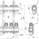Novaservis Rozdělovač s regulačními, termost. a mech. ventily 2 okruhy RZ02S