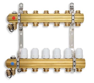 Novaservis Rozdělovač s regulačními, termost. a mech. ventily 4 okruhy RZ04S