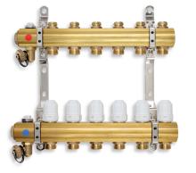 Novaservis Rozdělovač s regulačními, termost. a mech. ventily 6 okruhů RZ06S
