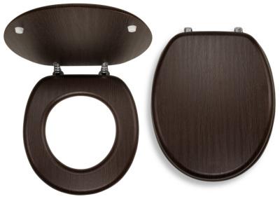 Novaservis Sedátko dýhované dřevo WC/WENGE