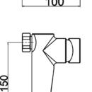 Novaservis Sprchová baterie bez přísluš. 150mm Nobless VISION X chrom 42061/1,0
