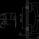 Novaservis Sprchová baterie bez příslušenství 150 mm BRADO chrom 80061/1,0