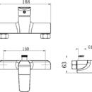 Novaservis Sprchová baterie bez příslušenství 150 mm Tina bílá/chrom 38062/1,1
