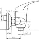 Novaservis Sprchová baterie bez příslušenství 150 mm Titania Iris chrom 92060/1,0