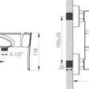 Novaservis Sprchová baterie bez příslušenství 150 mm VENETO chrom 75061/1,0