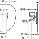 Novaservis Sprchová baterie podomítková KVADRO chrom 35050,0