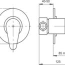 Novaservis Sprchová baterie podomítková Metalia 55 satino 55050,9