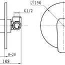 Novaservis Sprchová baterie podomítková Nobless Tina bílá/chrom 38050,1