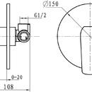 Novaservis Sprchová baterie podomítková Nobless Tina chrom 38050,0