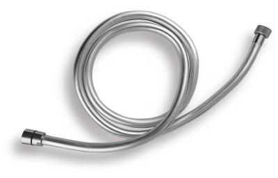 Novaservis Sprchová hadice plastová, stříbrná 120cm SILVER/120,0