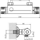 Novaservis Sprchová termostatická baterie 120 mm Aquamat chrom 2664/1,0