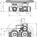 Novaservis Sprchová termostatická baterie 2-cestný ventil Aquamat chrom 2650R,0