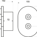 Novaservis Sprchová termostatická baterie 2-cestný ventil chrom 2750R,0