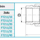 """Novaservis Topenářské šroubení s plochým těsněním, niklované 1"""" FT211/25"""