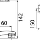 Novaservis Umyvadlová dřezová baterie 150 mm PADWA chrom 73076,0