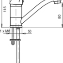 Novaservis Umyvadlová dřezová baterie beztlaková Metalia 55 chrom 55097,0