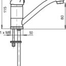 Novaservis Umyvadlová dřezová baterie Metalia 55 bílá-chrom 55096,1