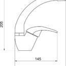 Novaservis Umyvadlová dřezová baterie Metalia 57 chrom 57016,0