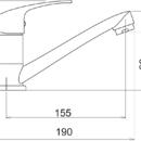 Novaservis Umyvadlová dřezová baterie Titania Iris chrom 92096,0