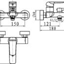 Novaservis Vanová baterie bez příslušenství 150 mm Nobless Tina chrom 38020/1,0