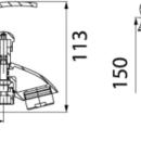 Novaservis Vanová baterie bez příslušenství 150 mm PADWA chrom 73020/1,0
