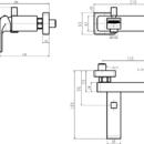 Novaservis Vanová baterie bez příslušenství 150 mm SHARP chrom 37020/1,0