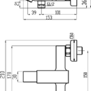 Novaservis Vanová baterie bez příslušenství 150 mm Titania CUBE chrom 98820/1,0