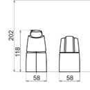 Novaservis Vanová baterie bez ramene Metalia 56 chrom 56345/1,0