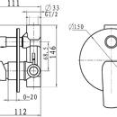 Novaservis Vanová podomítková baterie s přepínačem Nobless Tina bí/chr 38050R,1
