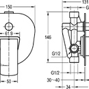 Novaservis Vanová sprchová baterie s přepínačem KVADRO chrom 35050R,0