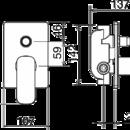 Novaservis Vanová sprchová baterie s přepínačem LAGHI chrom 44050R,0